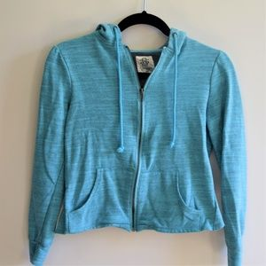 Jessica Simpson Zip-up Hoodie w/ Asymmetrical Back